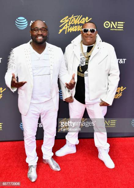 Half Mile Home arrives at the 32nd annual Stellar Gospel Music Awards at the Orleans Arena on March 25, 2017 in Las Vegas, Nevada.
