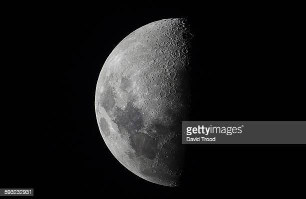 half moon close up - moon stock pictures, royalty-free photos & images