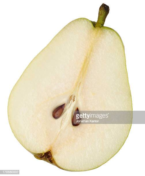 Half of a Pear with Seeds