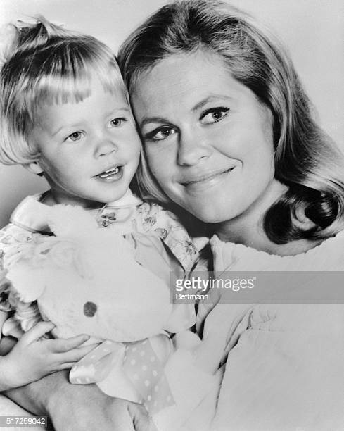 Half of Tabatha poses with her stage mother, actress Elizabeth Montgomery, the witch on the TV series Bewitched.