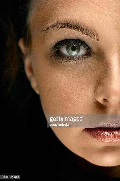 Half of Young Woman's Face, Portrait