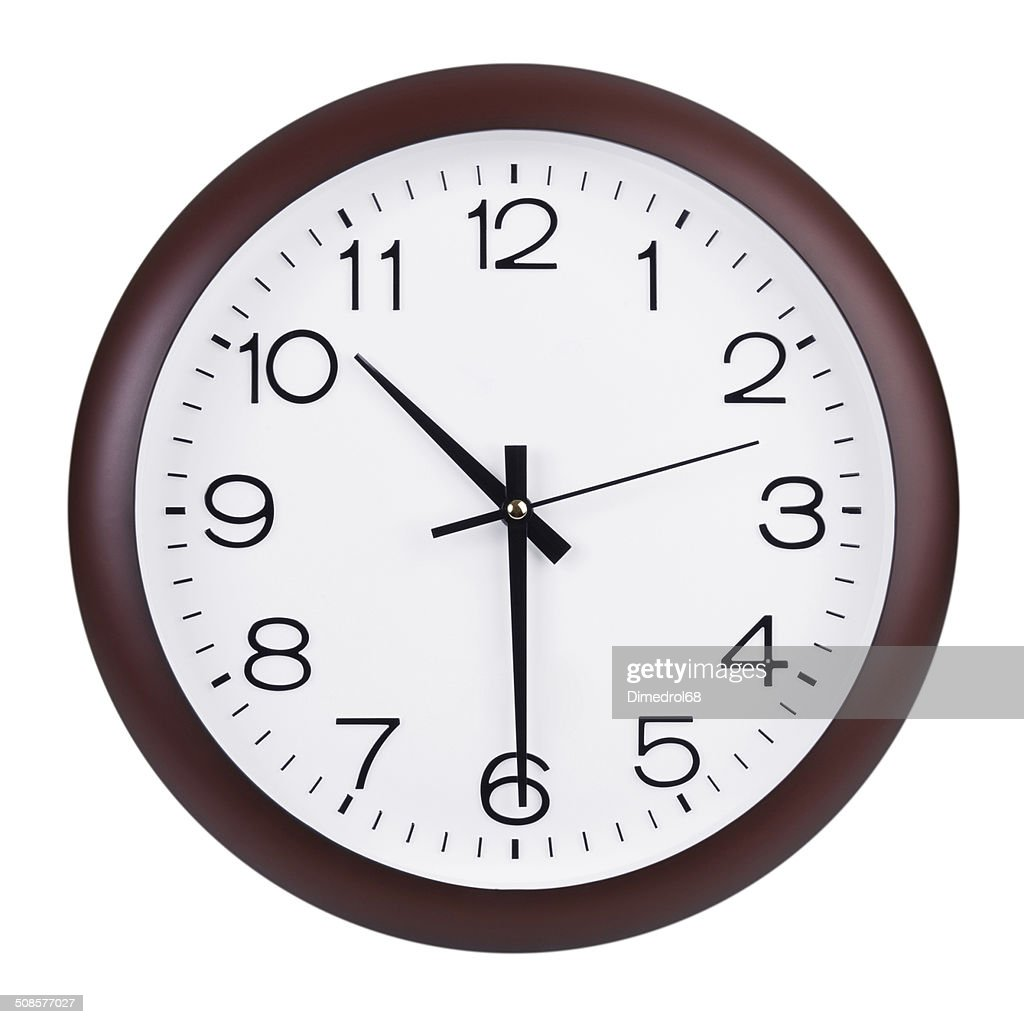 Half past ten on the clock : Stock Photo