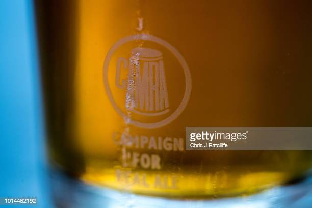 A half pint of beer during the Great British Beer Festival at Olympia Exhibition Centre on August 10 2018 in London England The five day festival...