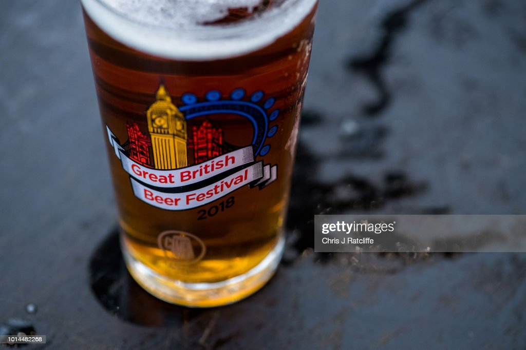 A half pint of beer during the Great British Beer Festival at Olympia Exhibition Centre on August 10, 2018 in London, England. The five day festival showcases over 900 real ales and craft beer and is organised by Campaign for Real Ale group CAMRA.