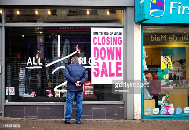 half price sale - closing down - business closing stock photos and pictures
