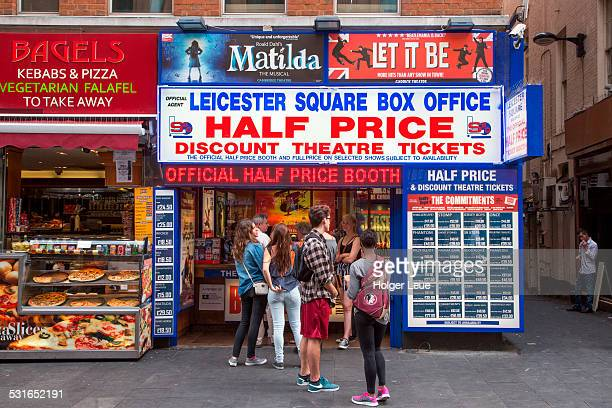 Half price theatre tickets for sale at box office