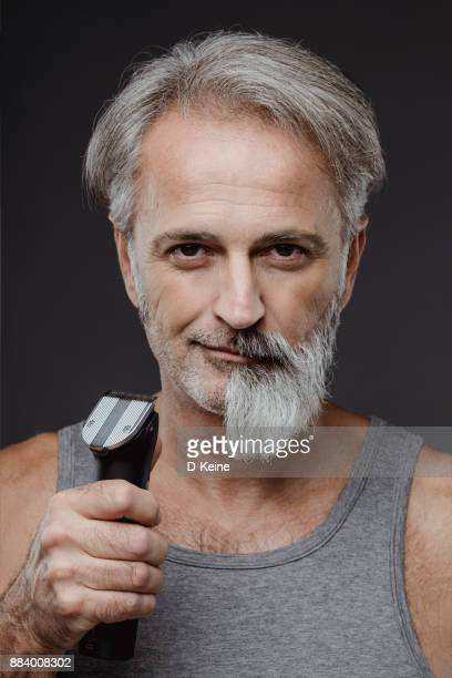 half shaved beard - facial hair stock pictures, royalty-free photos & images