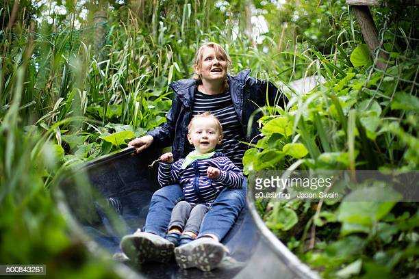 half term at blackgang chine - s0ulsurfing stock pictures, royalty-free photos & images