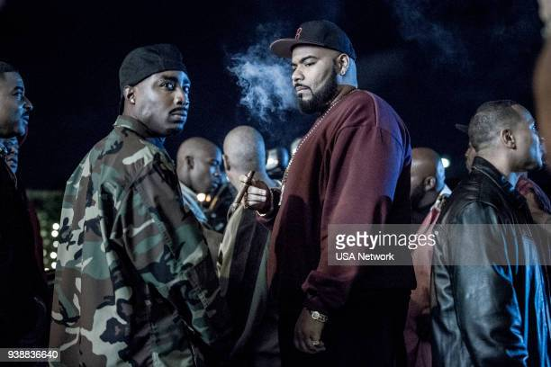 G Half the Job Episode 107 Pictured Marcc Rose as Tupac Shakur Dominic Santana as Suge Knight