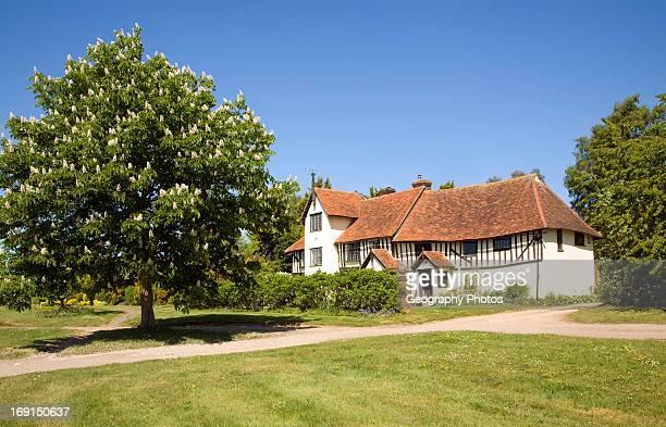 Half timbered old farmhouse, Newton, Suffolk, England.