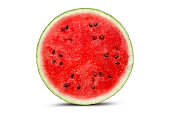 Half watermelon with isolated on white