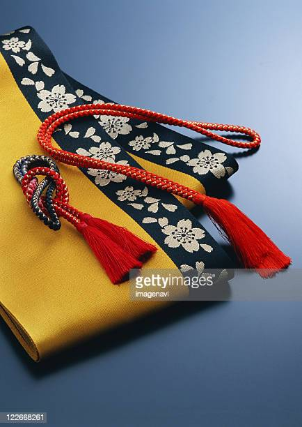 half-breadth sash - obi sash stock pictures, royalty-free photos & images