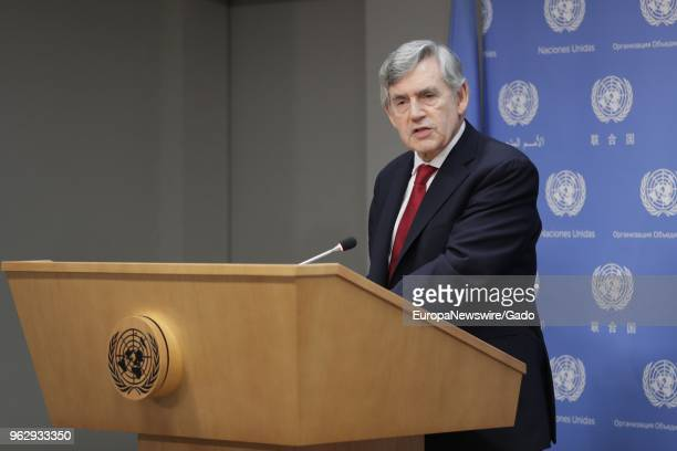 Halflength portrait of Gordon Brown United Nations Special Envoy for Global Education and Chair of the International Commission on Financing Global...