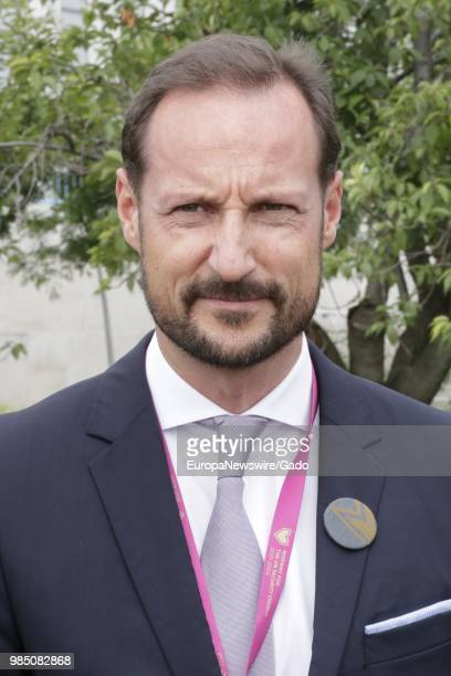 Halflength portrait of Haakon Crown Prince of Norway at the United Nations in New York City New York June 22 2018
