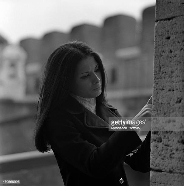 Halflength portrait of Italian singer Rosanna Fratello who is thoughtful she started her career at a tender age then became famous thanks to a...