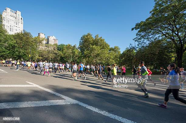 Half-marathon in Central Park in New York City