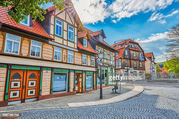 Half-timbered buildings in old town, Werigerode