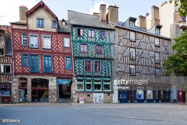 Half-timbered buildings in Rennes