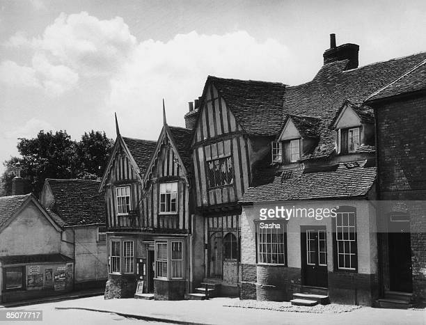 Halftimbered buildings in the village of Lavenham Suffolk 1933