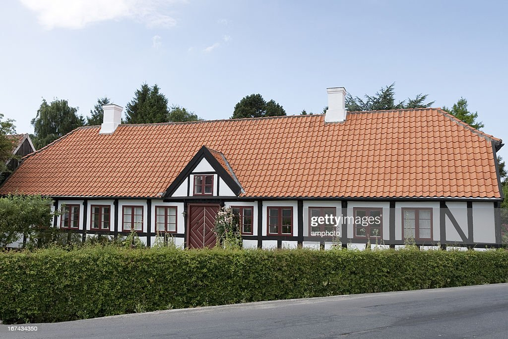 Estrutura de Madeira Casa : Foto de stock