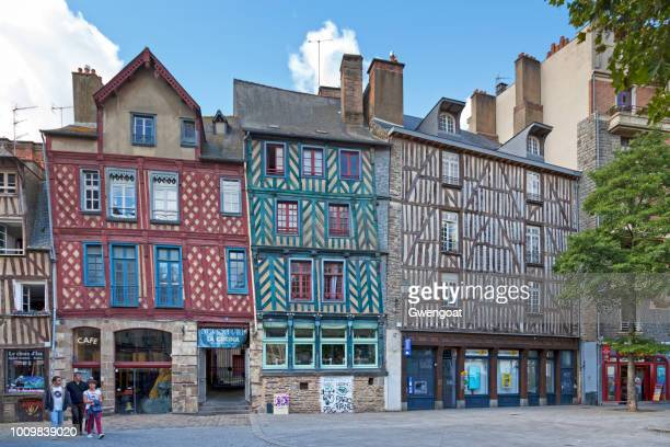 Half-timbered houses in Place Sainte-Anne in Rennes