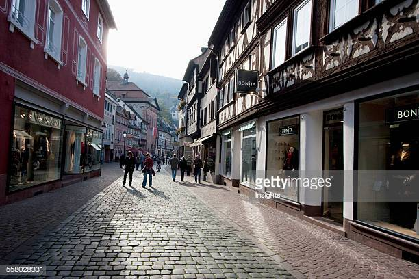 HalfTimbered Houses On The Hauptstrasse Miltenberg Bavaria Germany