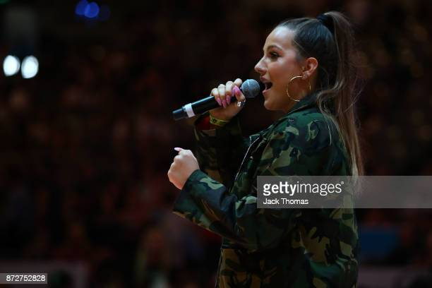 Halftime entertainment during the round six NBL match between Melbourne United and the Sydney Kings at Hisense Arena on November 11 2017 in Melbourne...