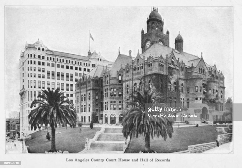Half-tone print of a photograph of the old County Courthouse