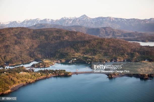halibut cove, kachemak bay, kachemak bay state park - kenai mountains stock pictures, royalty-free photos & images