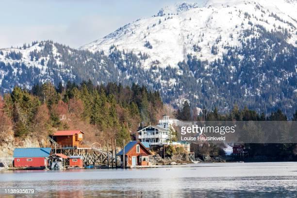 halibut cove, kenai peninsula, alaska - kachemak bay stock pictures, royalty-free photos & images