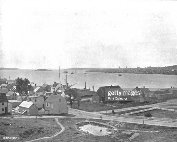 Halifax Harbour Nova Scotia from Dartmouth Canada circa 1900 From Scenic Marvels of the New World edited by Prof GeoR Cromwell [CNGreig Co circa...