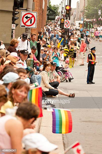 halifax pride parade - flag of nova scotia stock pictures, royalty-free photos & images