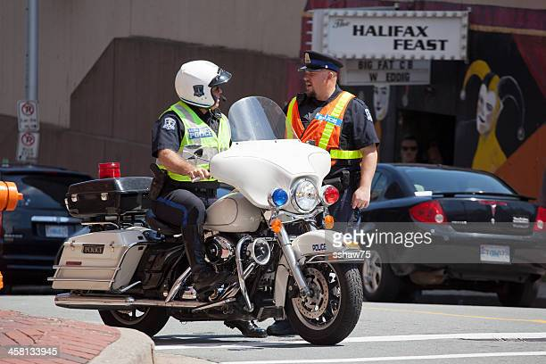 Halifax Regional Police Officers Chatting
