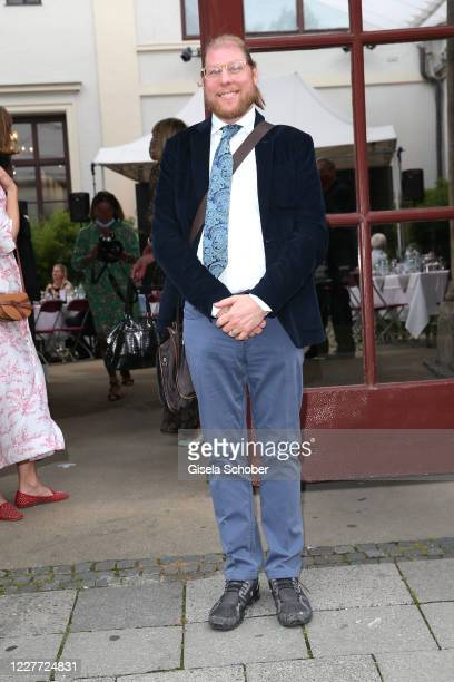 Halifax Sachs son of Gunter and Mirja Sachs attends the exhibition Gunter Sachs Kamerakunst at Kuenstlerhaus am Lenbachplatz on July 21 2020 in...