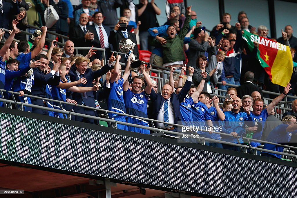 Grimsby Town FC v FC Halifax Town - The FA Trophy Final: The FA Non-Leagues Finals Day : News Photo