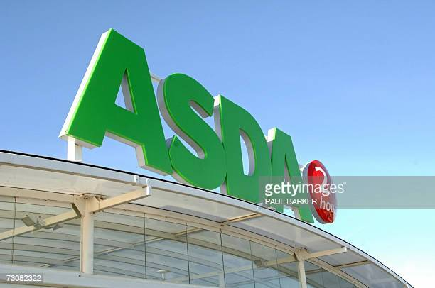 An Asda supermarket store logo is pictured in Halifax in West Yorkshire in northern England 23 January 2007 AFP PHOTO/Paul Barker