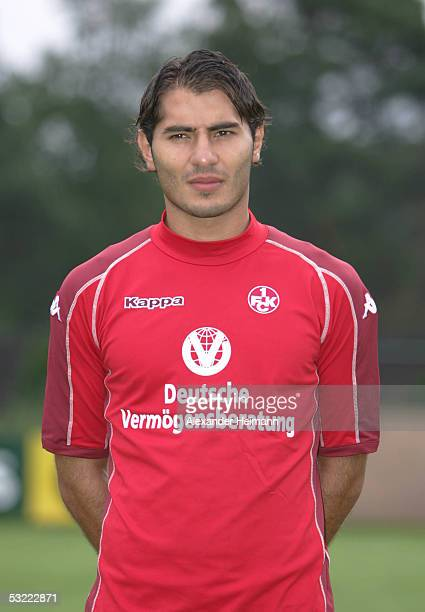 Halil Altintop looks in the camera during the team presentation of 1FC Kaiserslautern for the Bundesliga season 2005 2006 on July 10 2005 in...