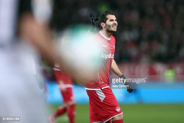 Halil Altintop of Kaiserslautern reacts during the Second Bundesliga match between 1 FC Kaiserslautern and SV Sandhausen at FritzWalterStadion on...