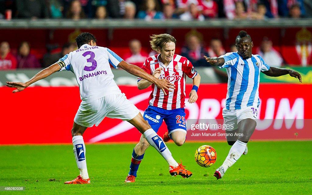 Sporting Gijon v Malaga CF - La Liga : News Photo