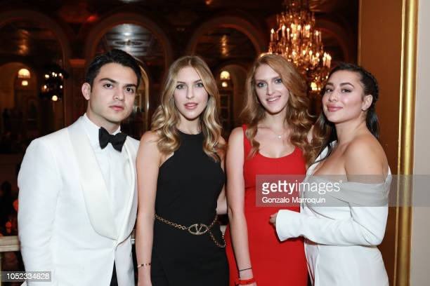 Halim Bulos Bella Eastham Madeline Eastham and Andrea Casanova during the Casita Maria Fiesta 2018 at The Plaza Hotel on October 16 2018 in New York...