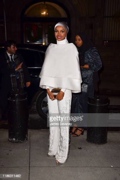 Halima Aden arrives to the 15th Annual UNICEF Snowflake Ball at Cipriani Wall Street on December 3, 2019 in New York City.