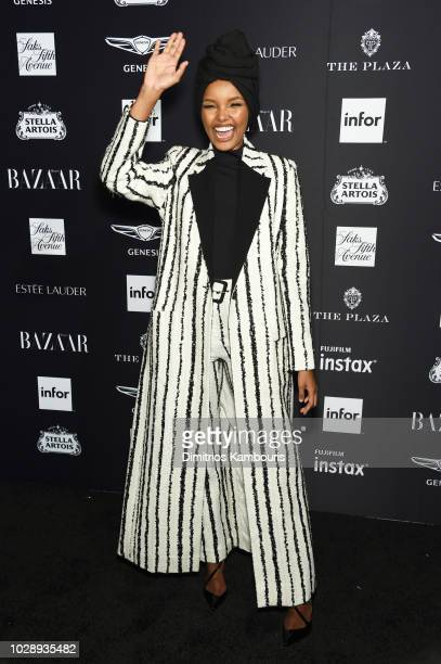 Halima Aden attends as Harper's BAZAAR Celebrates ICONS By Carine Roitfeld at the Plaza Hotel on September 7 2018 in New York City
