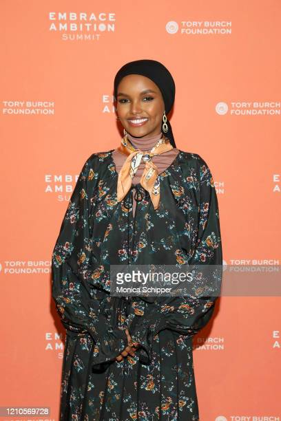 Halima Aden attends the 2020 Embrace Ambition Summit by the Tory Burch Foundation at Jazz at Lincoln Center on March 05 2020 in New York City
