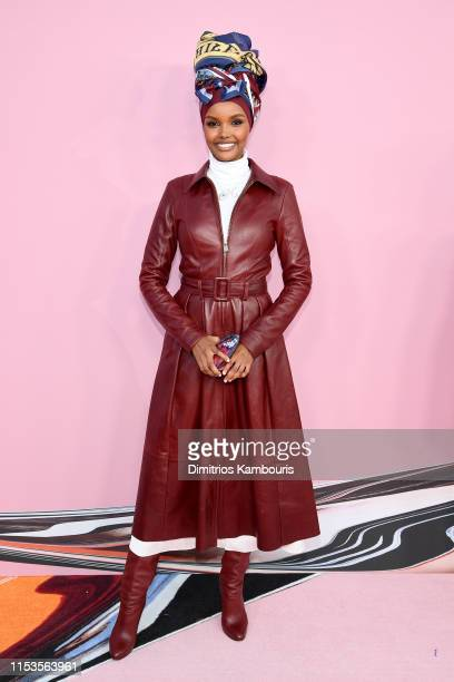 Halima Aden attends the CFDA Fashion Awards at the Brooklyn Museum of Art on June 03 2019 in New York City