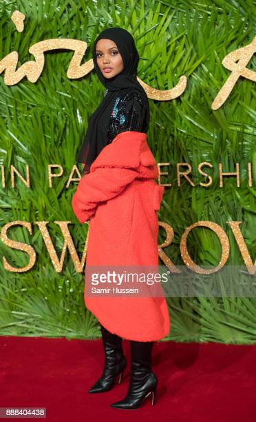 Halima Aden attends The Fashion Awards 2017 in partnership with Swarovski at Royal Albert Hall on December 4 2017 in London England