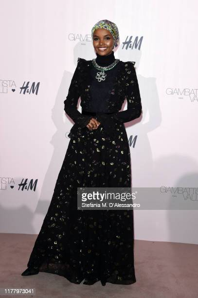 Halima Aden attends the 'Giambattista Valli Loves H&M' Show on October 24, 2019 in Rome, Italy.