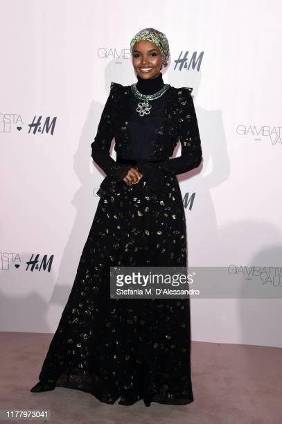 Halima Aden attends the 'Giambattista Valli Loves HM' Show on October 24 2019 in Rome Italy