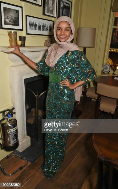 Halima Aden attends the Grey Goose 2018 BAFTA Awards after party on February 18 2018 in London England