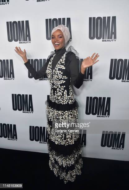 Halima Aden attends UOMA Beauty Launch Event at NeueHouse Hollywood on April 25 2019 in Los Angeles California