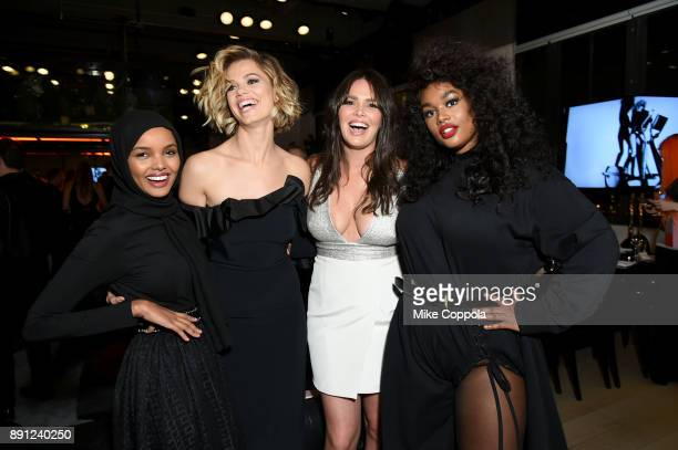 Halima Aden Hailey Clauson Candice Huffine and Precious Lee attend the CR Fashion Book Celebrating launch of CR Girls 2018 with Technogym at Spring...